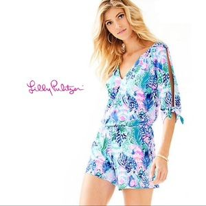 Lilly Pulitzer Cold Shoulder Bryce Romper
